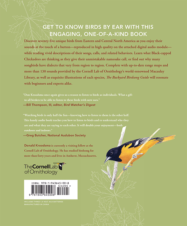 The Backyard Birdsong Guide (Eastern & Central)